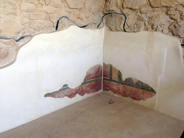 Remains of original fresco from Herod's time