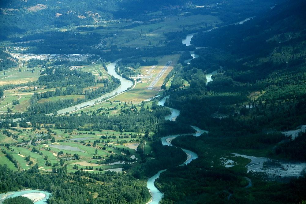 Pemberton airport aerial
