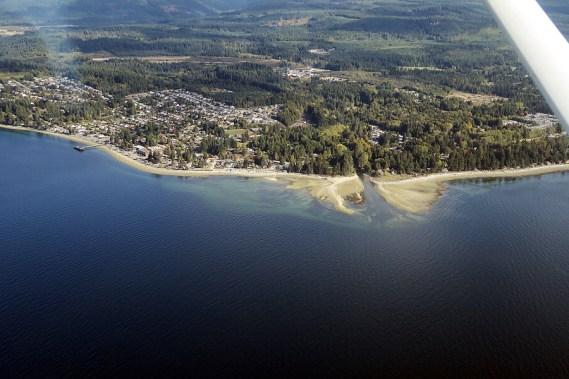 aerial of mission park beach