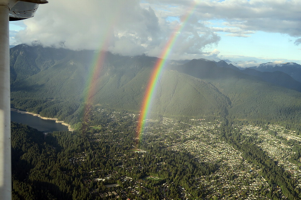 double rainbow over North Vancouver