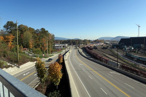 View from Third Street overpass