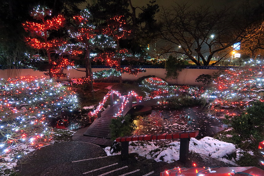 Japanese gardens, more lights