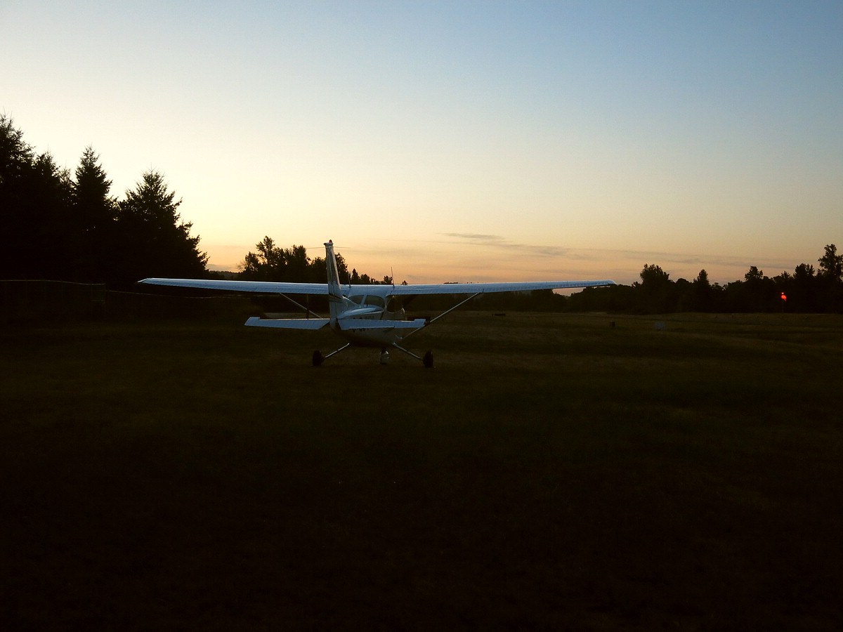 Jim Wright Airfield at dusk