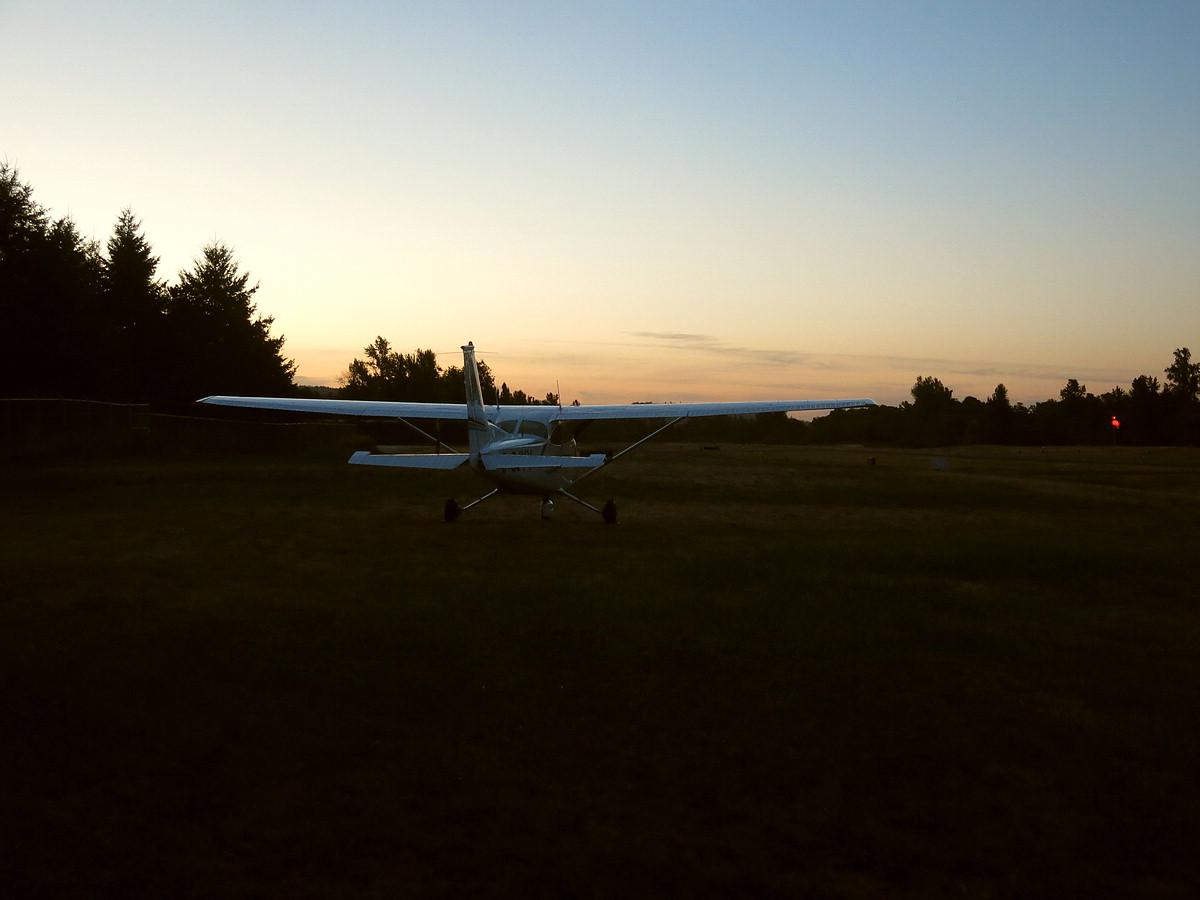 Jim Wright Airfield at dusk
