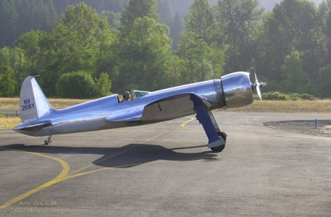 Jim Wright & his replica H-1 Racer at Cottage Grove