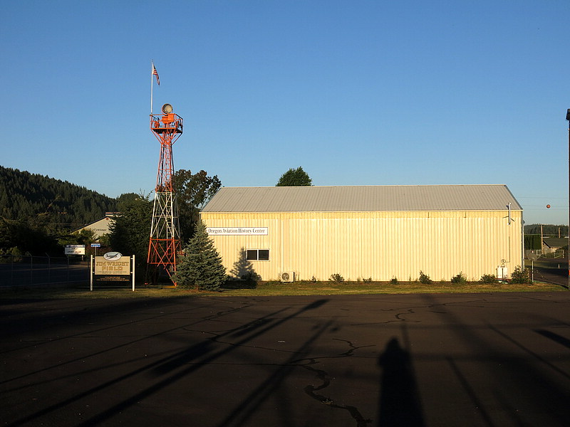 Street entrance to airfield & museum