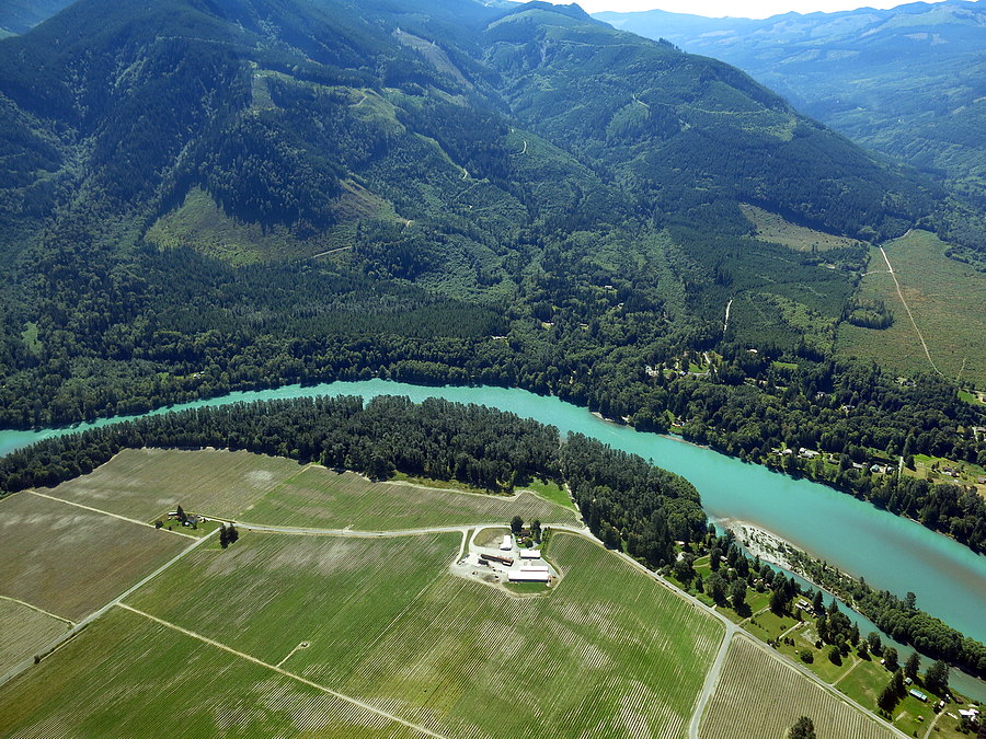 Aerial of Skagit River