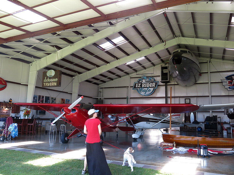 Inside Mr. Bowman's hangar