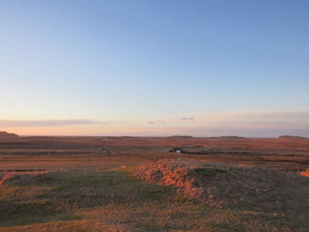Dawn view from Vagnsstaðir Hostel looking south
