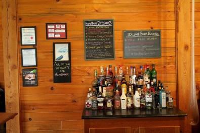 Dessert menu & liquor