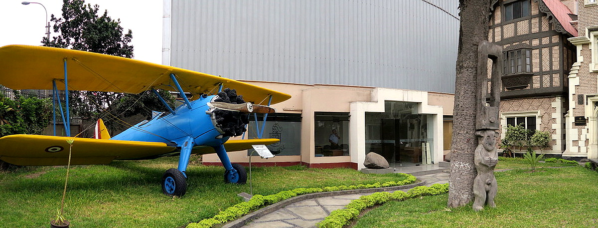 A Stearman in downtown Lima, Peru