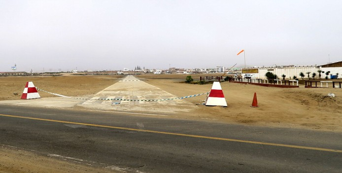 A new taxiway under construction