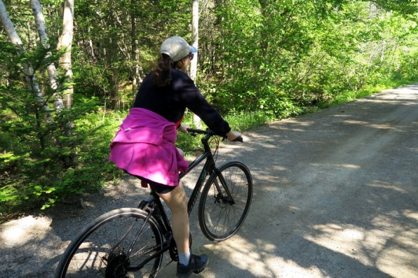 Cycling the Irving Nature Park road