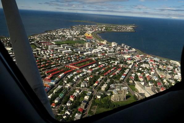 Aerial of Reykjavik
