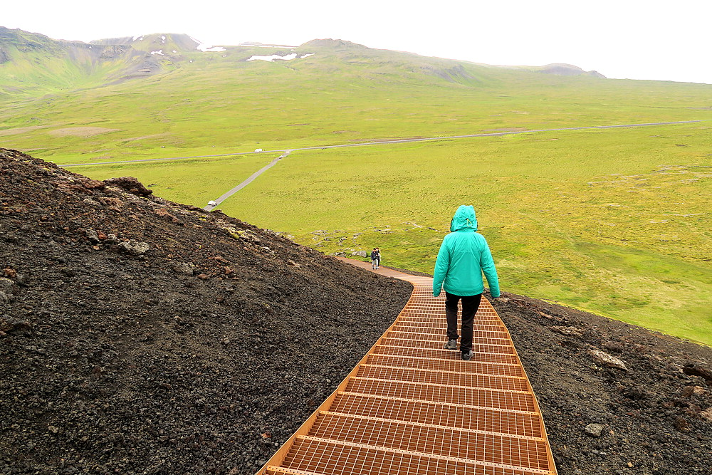 Saxholar crater stairs