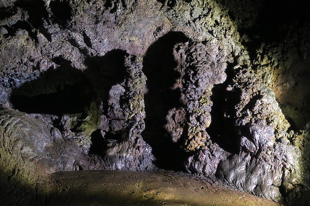 Weird lava formations inside Vatnshellir