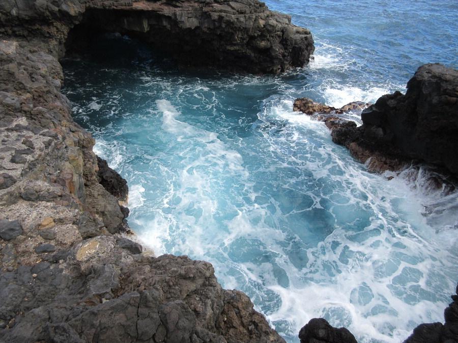 Coastal sea caves