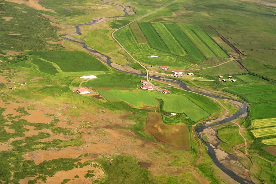 aerial of snorrastadir